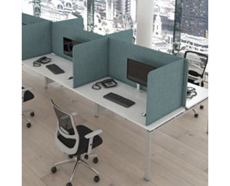 FREE-STANDING 3-SIDED HIGH FABRIC OFFICE SCREENS