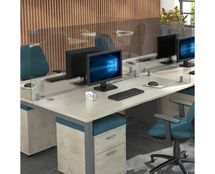 PROTECTIVE DESK MOUNTED HIGH ACRYLIC SCREENS