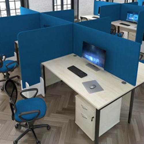 DESK MOUNTED PROTECTIVE OFFICE SCREENS - 700 MM HIGH