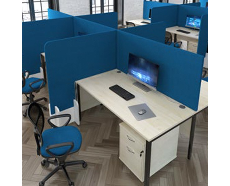 PROTECTIVE HIGH SIDED DESK DIVISION FLOOR STANDING SCREENS