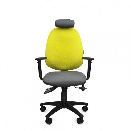 ERGOCUBE GOOD POSTURE 400 ERGONOMIC OFFICE CHAIR WITH HEADREST