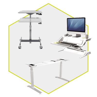 ERGONOMIC HEIGHT ADJUSTABLE SIT STAND OFFICE DESKS