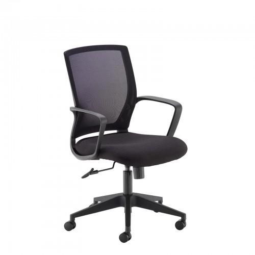 Jonas Black Mesh Operator Chair